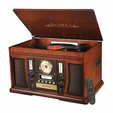 Victrola VTA-750B Nostalgic Aviator 7-in-1 Turntable Wooden Entertainment Center