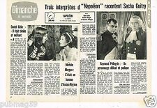 Coupure de Presse Clipping 1971 (2 pages) Napoléon sacha Guitry