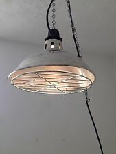 Vintage Industrial Ceiling Hanging Caged Light /Lamp With Chain