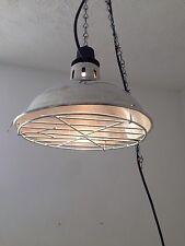 Vintage industrial plafond suspendue en cage de lumière/lampe avec chaîne