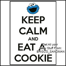 Fridge Fun Refrigerator Magnet KEEP CALM & EAT A COOKIE- SESAME STREET MONSTER