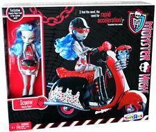 MONSTER HIGH GHOULIA YELPS SCOOTER EXCLUSIVE PLAYSET DOLL AND PET OWL SIR HOOTS
