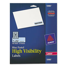 Avery  High-Visibility Laser Labels, 1 x 2-5/8, Pastel Blue, 750/Pack - AVE5980