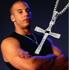 Silver Unisex Men's  Stainless Steel Cross Pendant Necklace Chain Best Gift