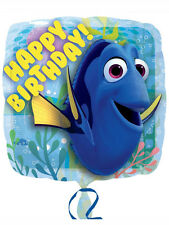 "Finding Dory Nemo Party Decoration Happy Birthday 18"" Square Foil Balloon"