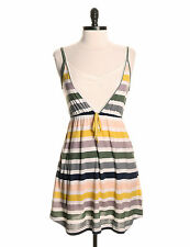 Summer Dress by Hurley - Size M - Multicolour Stripes - Stretch Cotton - NWT
