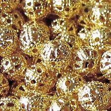 50 Piezas De 10 Mm Hierro encontrar Cuentas-Gold-a6769