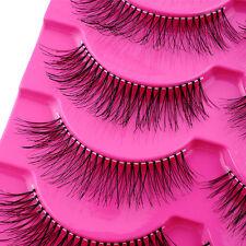 Fashion 5 Pairs Natural Cross Extension Beauty Makeup Long Fake False Eyelashes