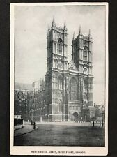 RP Vintage Postcard - London #W19 - Westminster Abbey, West Front