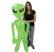"""HUGE 72"""" GREEN ALIEN INFLATE INFLATABLE 6 FEET BLOW UP PROP GAG GIFT FREE SHIP!!"""