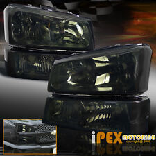 [SMOKE] 2003-2006 Chevy Silverado 1500 2500 3500 Headlight+Signal Bumper Light