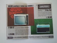 advertising Pubblicità 1967 GRUNDIG TELEVISORE P 1600 SE/RADIO PRIMA BOY