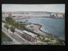 POSTCARD SOMERSET WESTON SUPER MARE 1910'S - THE TWO BAYS & MADEIRA COVE - TRAN