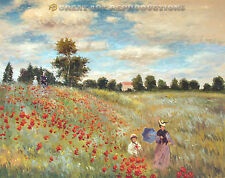 """Poppies at Argenteuil"",  Claude Monet, Reproduction in Oil, 36""x28"""