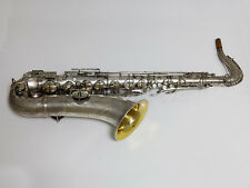 Vintage Conn New Wonder II Tenor Saxophone Silver Plated Serial #216XXX