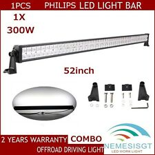 PHILIPS 52Inch 300W Led Flood Spot Light Bar Off road 4WD Jeep Truck Motors US