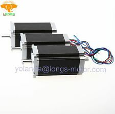 Stepper Motor 3PCS Nema 23 dual shaft 425 oz.in 3A  CNC 23HS9430B CNC Router