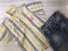 EAGER BEAVER Gr. 140 Hemd T-Shirt Sommerhemd gestreift