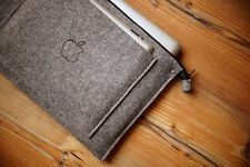 "New MacBook Pro 15"" Retina Sleeve Case-ZIP WITH iPad POCKET and HAND BURN Apple"