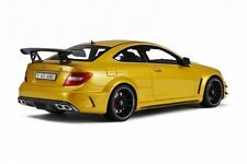 MERCEDES-BENZ C63 AMG BLACK SERIES GT034 GT SPIRIT 1/18 YELLOW RESIN