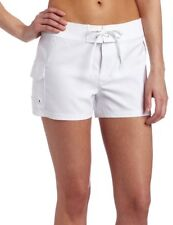 Jag Womens Solid White Front Tie Board Shorts Boardshorts  XL NWT