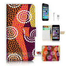 iPhone 7 (4.7') Flip Wallet Case Cover P2469 Aboriginal Dot Art