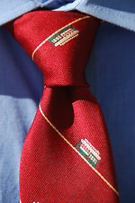 Cable Car by Tie Rack Vintage Burgundy Trolley Tie - New Old Stock