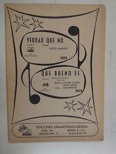 combo band parts VRDAD QUE NO / QUE BUENO ES fox trot