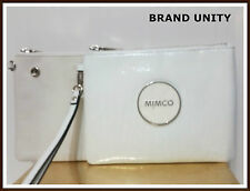 Mimco Duo Mim Pouch Wallet Makeup  Clutch Brand New with Tags Dust Bag White