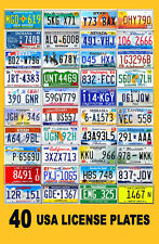 SET OF 40 USA LICENSE PLATES - UNITED STATES TAGS LOT