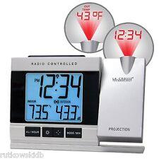 La Crosse Electric Radio Controlled Alarm Clock with Indoor/Outdoor Temperature