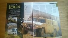 5 Page sides Article on 2011 Idex Military vehicles show Abu Dhabi Norinco etc