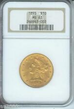 1893 ( 1893-P ) $10 Liberty Eagle Ngc Ms63 Gold coin Ms-63 !
