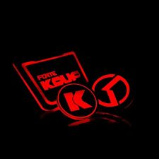 LED Red Cup Holder Console Plate Set For KIA Cerato Koup Forte Koup 2009~2012