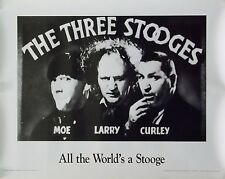 The 3 Three Stooges 23x29 All The World's a Stooge Poster 1991