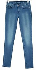 Levis SUPER SKINNY Demi Curve Low Rise Medium Blue Stretch Jeans Size 8 W26 L32