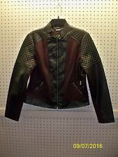 a.n.a Misses M Wool Blnd & Faux Leather Scuba / Motorcycle Jacket FREE Shpg NWTA