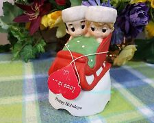 Love is kim Love is Christmas Couple Music box with tag