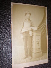 Cdv old photograph workman in apron by W Beales c1860s