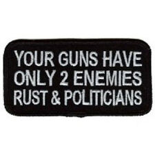 YOUR GUNS HAVE 2 ENEMIES BIKER PATCH