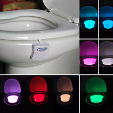 Practical Automatic LED Night Lamp Toilet Bowl Body Sensing Motion Sensor Light