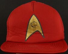 Star Trek Star Fleet Engineering Red Trucker Hat Cap with Snapback Strap Adjust