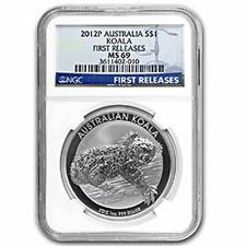 2012P Australian Silver Koala 1oz First Releases NGC MS69 Graded Slab Coin
