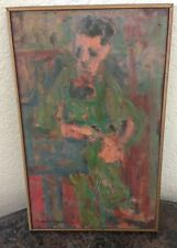 Very RARE Oil Painting on board by Listed Artist Nicholas Buhalis 1960 ~~Signed