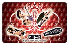 Coffin Case Pinup Girls Woodbrass PikCard Custom Guitar Picks (4 picks per card)