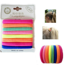 8* Stretchy Hair Rubber Bands Pony Tail FLUORECENT Bright Colours Thick Bobbles