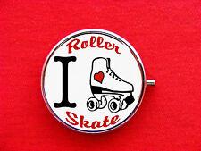 ROLLER DERBY LOVE SKATE ROUND METAL PILL MINT BOX CASE