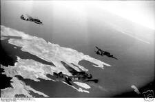 German Luftwaffe Junker Bombers Crete 1943 World War 2 Reprint Photo 6x4 Inch