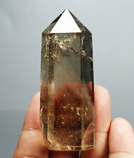RARE Natural 93g Smoky Citrine Quartz Crystal Point Energy Healing Specimen