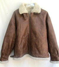 WILSON'S LEATHER..BROWN..LEATHER..AVIATOR..REVERSIBLE..JACKET..sz XL